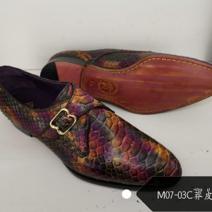 Real Exotic Real Python Skin Men Shoes
