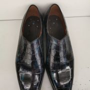 Loafer Style Dress Shoes Alligator Skin Men