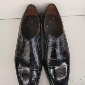 Loafer Style Dress Shoes Alligator Skin Men