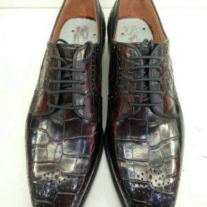 Hand Made Alligator Skin Bespoke Derby Shoes