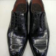 Derby Style Alligator Skin Shoes