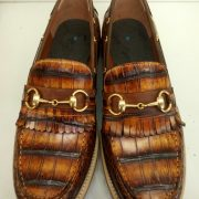 Alligator Skin Driving Loafers Flats