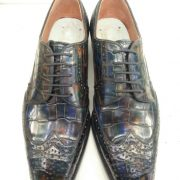 Oxford Alligator Pattern Derby Shoes Lace-up