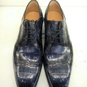 Luxury Men Alligator Pattern Derby Shoes