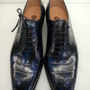 Genuine Alligator Leather Wholecut Oxford Shoes
