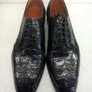 Alligator Skin Blucher Shoes For Men