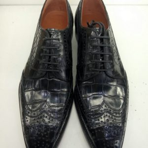 Alligator Skin Blucher Shoes For Men