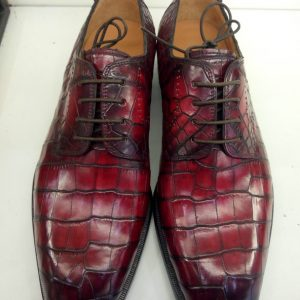 Genuine Alligator Leather Blucher Dress Shoes