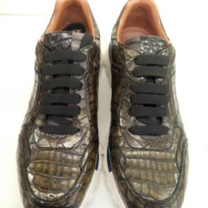 Fashion Handmade Alligator Leather Casual Shoes