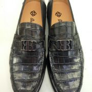 Alligator Leather Fashion Penny Loafer Shoes