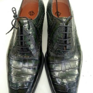 Handcrafted Alligator Classic Wholecut Oxford Shoes