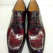 Alligator Print Genuine Leather Men Derby Shoes