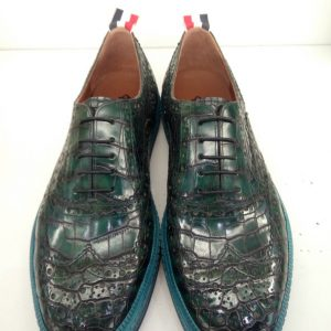 Handcrafted Men's Classic Alligator Oxford Shoes