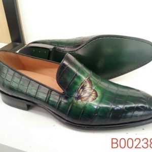 Alligator Leather Penny Loafer Custom Shoes