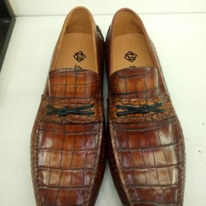 Men Shoes Casual Alligator Loafers