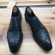 Ostrich Leather Oxford Lace up Shoes