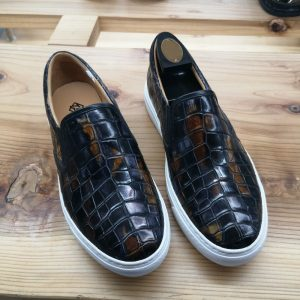 Alligator Skin Casual Slip On Shoes