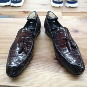 Alligator Boat Shoes Brown