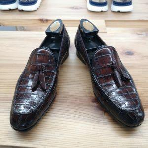 Alligator Boat Shoes Brown