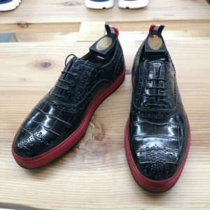 Fashion Alligator Oxford Sneakers Black