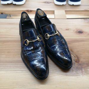 Alligator Bit Slip on Loafers Slip-on Shoes