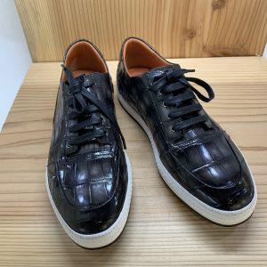 Fashion Alligator Genuine Leather Men Sneakers
