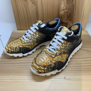 Real Snakeskin Shoes Mens Python Shoes Yellow