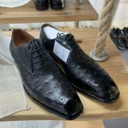 Natural Ostrich Leather Dress Shoes For Men
