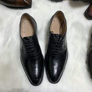 Handcrafted Genuine Alligator Leather Men's Oxford Shoes