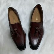 European Style Breathable Tassel Men Dress Leather Loafers