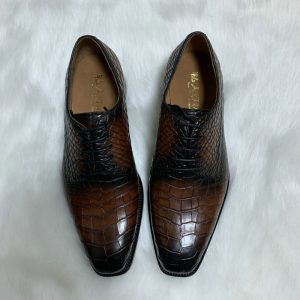 New Italian Formal Office Alligator Oxfords Shoes
