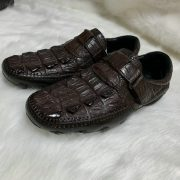 Luxury Exotic Leisure Real Crocodile Leather Mens Loafer Shoes