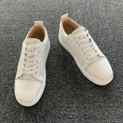 Genuine Men's Leather White Sole Trainers