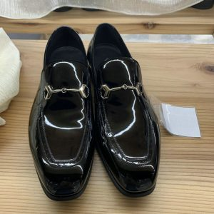 Leisure Fashion Men Leather Casual Beans Shoes