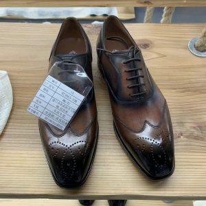Custom Hand Made Brogue Oxford Leather Shoes