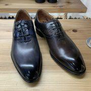 Top Grade Men Flat Sole Leather Shoes