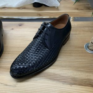 Business Lace-up Modern Footwear Woven Leather