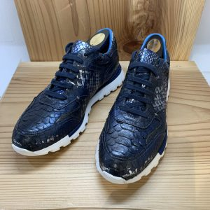 Men's Snakeskin Custom Running Shoes Black