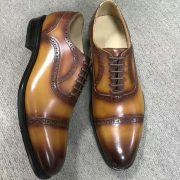 Goodyear Welted Wholecut Oxford Cow Leather
