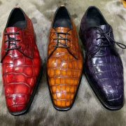 New Derby Goodyear Welted Men Dress Leather Shoes