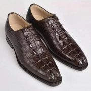 Elegant Goodyear Welted Men Crocodile Shoes