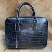 Business Handbag Crocodile Genuine Leather