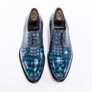 Men's Dress Derby Shoes Crocodile Skin