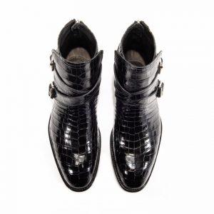 Genuine Crocodile Double Monk Strap Boot