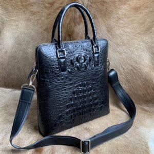 Crocodile Leather Portrait Briefcase