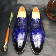 Crocodile Derby Lace Up Dress Shoes