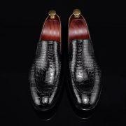 Crocodile Print Loafers Fashion Shoes