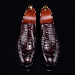 High-End Croc Leather Loafer Flat Shoes
