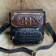 Cowhide Crocodile Pattern Shoulder Bag
