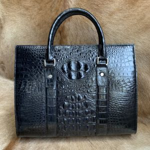 Crocodile Leather Compartment Briefcase